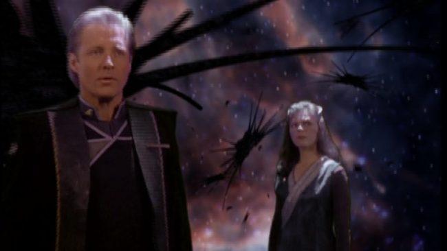 Delenn und Sheridan im Projektionsraum